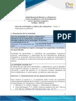 Guía de actividades y rúbrica de evaluación - Unidad 1 - Tarea 2 - Hidrocarburos alifáticos