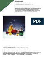 LECŢIE DE CHIMIE - Introducere în chimia organică