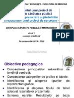 LP 2 - Managementul unui proiect 2. Prelucrare si prezentare rezultate