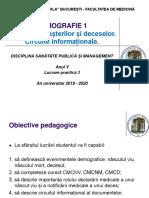 LP 3 - Demografie 1. Notificarea nasterii si a decesului, circuit informational