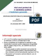 LP 1 - Managementul unui proiect 1. Prezentare generala