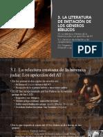 3. LA LITERATURA DE IMITACIÓN DE LOS GÉNEROS BÍBLICOS.pptx