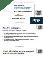 LP 6 - Demografie 4. Analiza mortalitatii infantile