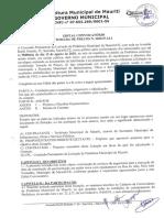 licitação pavimentação mauriti 2020