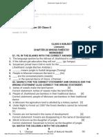 Worksheet Chapter 20 Class 5