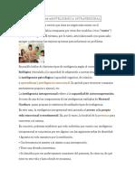 DEFINICIÓN DE INTELIGENCIA INTRAPERSONAL