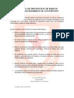 1.3 POLITICA DE PREVENCION DE RIESGOS CUERPO DE BOMBEROS DE CONCEPCION