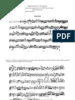 Ejerccio de repentización y transporte violin