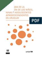 Panorama de La Situación de Los Niños, Niñas y Adolescentes Afrodescendientes en Uruguay (1)