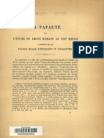 Bulle papale d'Innocent IV interdisant l'étude du droit romain