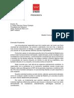 La carta de Isabel Díaz Ayuso a Pedro Sánchez