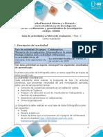 Guia de actividades y Rúbrica de evaluación Fase 2 Contextualización