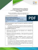 Guía de actividades y rúbrica de evaluación Unidad 1 - Fase 0 - Reconocimiento del concepto del riesgo ambiental