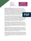 Press Release for MAS In Unison Jan 24 2011