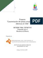Caracterización del Parque Actual de Motores Eléctricos en Chile