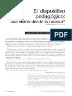 El dispositivo pedagogico