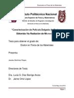 CARACTERIZACION DE PELICULA DELGADA DE CARBONO OBTENIDA VIA RADIACION DE MICROONDAS