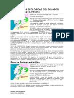 RESERVAS ECOLOGICAS DEL ECUADOR