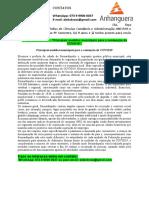 """4° SEMESTRE TGP - """"Principais medidas municipais para a contenção da COVID19""""."""
