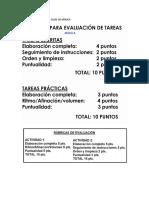 RUBRICAS DE EVALUACIÓN CLASE DE MÚSICA