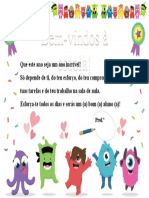Certificado de Boas-Vindas (2º. 3º. 4º anos)