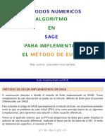 Algoritmo para el Método de Euler en SAGEMATH