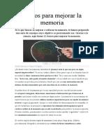 Trucos para mejorar la memoria Revista MUY INTERESANTE 2019 (1)