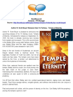 Author R. Scott Boyer Releases New YA Fantasy - Temple of Eternity - PR by BookBuzz.net