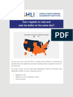 USHLI - Can I Register to Vote and Cast My Ballot on the Same Day