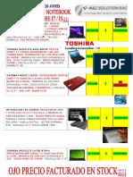 LISTA DE NOTEBOOK  2011-3