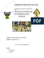 Sist. Extensivo de Prod. animal - Servantes