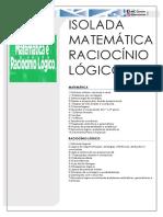 isoladas matematica raciocinio logico