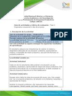 Guia de actividades y Rúbrica de evaluación - Unidad 2 - Fase 2 Diagnostico situacional e idea de proyecto