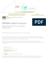 Personal SWOT Analysis - Career Planning from MindTools