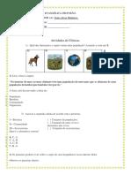 Agosto atividades Ciêcias revisão para avaliação.