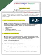 cuestionario español 3°