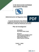 PRODUCCIÓN Y COMERCIALIZACIÓN DE ARTÍCULOS DE ASEO PERSONAL