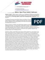 Protecting Athletes - Open Water Swimming Safety Conference Press Release
