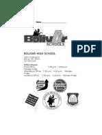 BHS Student Handbook 10-11