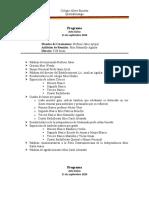 Programa Acto cívico 11 de Sep