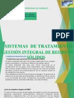 SISTEMA DE TRATAMIENTO Y GESTION DE RESIDUOS SOLIDOS MUNICIPALES