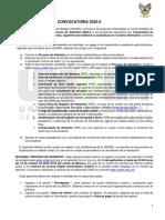 CONVOCATORIA LICENCIATURA UNIDEH 2020-2