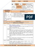 Septiembre - 3er Grado Inglés (2019-2020)