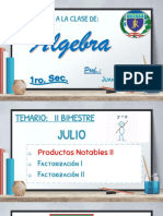 1RO DE SEC ALGEBRA SEM 10 - TEORIA