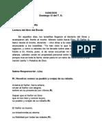 Lecturas Domingo XI del TO