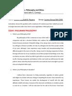 Essay Philosophy by Piquero, Johann Reginald