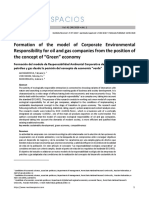 "Formation of the model of Corporate Environmental Responsibility for oil and gas companies from the position of the concept of ""Green"" economy"