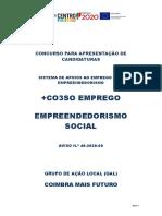 +CO3SO - Emprego Empreendedorismo Social - GAL COIMBRA + Futuro