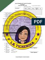 Examen de diagnóstico 1° Básico - La Ticherina