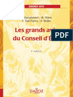 Les grands avis du Conseil d'Etat 2008